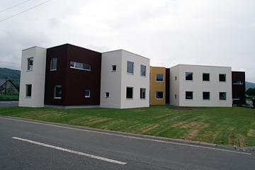 小規模特養と地域交流スペース等を併設して、地域コミュニティーの核となる施設の設計(北海道)